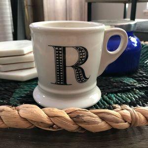 Anthropologie Classic R Coffee Mug